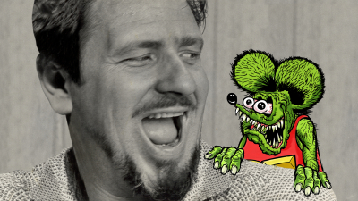 """Ed """"Big Daddy"""" Roth With Rat Fink"""