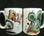 Rat Fink Mug Tails White