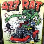 427 Rat Aluminum Sign 12x18