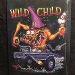 Black Wild Child Metal Sign
