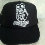 Black/White Rat Fink Trucker Hat