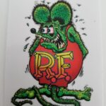 Green Rat Fink Clear Decal