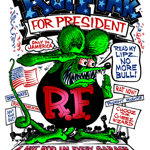 Rat Fink for President Clear Decal