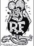 12 in. Rat Fink Black Decal