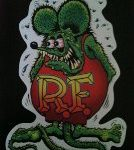 11 1/8 in. Green Rat Fink Sticker