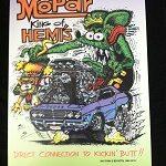 Mopar King of Hemi Aluminum Sign 12x18
