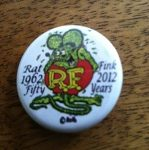 Rat Fink 50th Anniversary Button