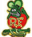 Green Rat Fink patch3 3/4