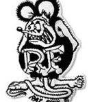 B/W Rat Fink patch3 3/4