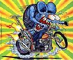 Rat Fink Biker mini poster #3 6.5x8.25