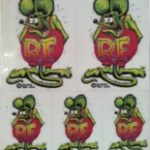 Rat Fink Mini Decals clear
