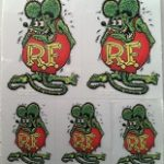Rat Fink Mini Decals green