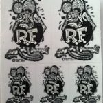 Rat Fink b/w Mini Decals
