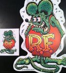 Rat Fink Sticker Set