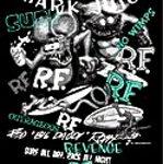 Rat Fink Zippered Hoodie Collage- Shark Juice/Surf!!!!