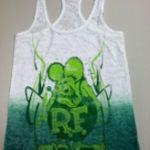 Burnout Rat Fink Ladies Tank Top (Green/White)
