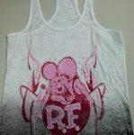 Burnout Rat Fink Ladies Tank Top (Pink/White)