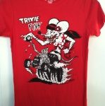 Trixie Fink Red Youth Fitted Kid's T-Shirt