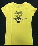 Youth Yellow Flying Eyeball Fitted Kid's T-Shirt