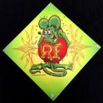 Green Rat Fink Image Metal Sign