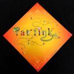 Orange Rat Fink Lettering Metal Sign