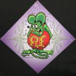 Purple Rat Fink Metal Sign