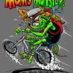 Mom's Monster Charcoal Kid's T-Shirt