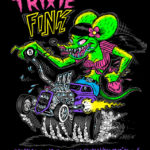Trixie Fink Black Ladies Fitted Tee