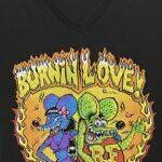 Burnin Love Ladies V-Neck Tee