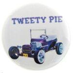118 Ed Roth's Tweety Pie Button (2.25