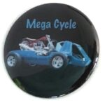 109 Ed Roth's Mega Cycle Button (2.25