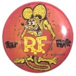 5 Rat Fink Button Red (2.25