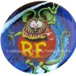 12 Rat Fink Love to Surf Button (2.25
