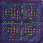 Rat Fink Bandana Nuts and Bolts Purple / Green / Blue