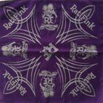 Ed Roth Rat Fink Bandana Pinstripe Purple w/ Silver