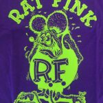 Kids Rat Fink Front Design T-Shirt - Purple & Green