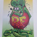 Rat Fink Image 12x18 Metal Sign