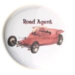 113 Ed Roth's Road Agent Button (2.25