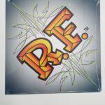 Silver RF 12x12 Metal Sign