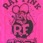 Kids Rat Fink Front Design T-Shirt - Pink & Black