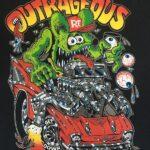Outrageous Front Design Kids T-Shirt (Black)
