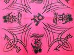 Rat Fink Bandana Pinstripe Pink w/ Black