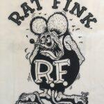 Rat Fink Front Design Kids T-Shirt (B&W)