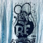 Paisley Burnout Rat Fink Blue Ladies Fitted Tee