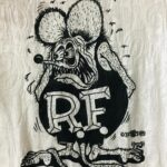 Paisley Burnout Rat Fink White Ladies Fitted Tee